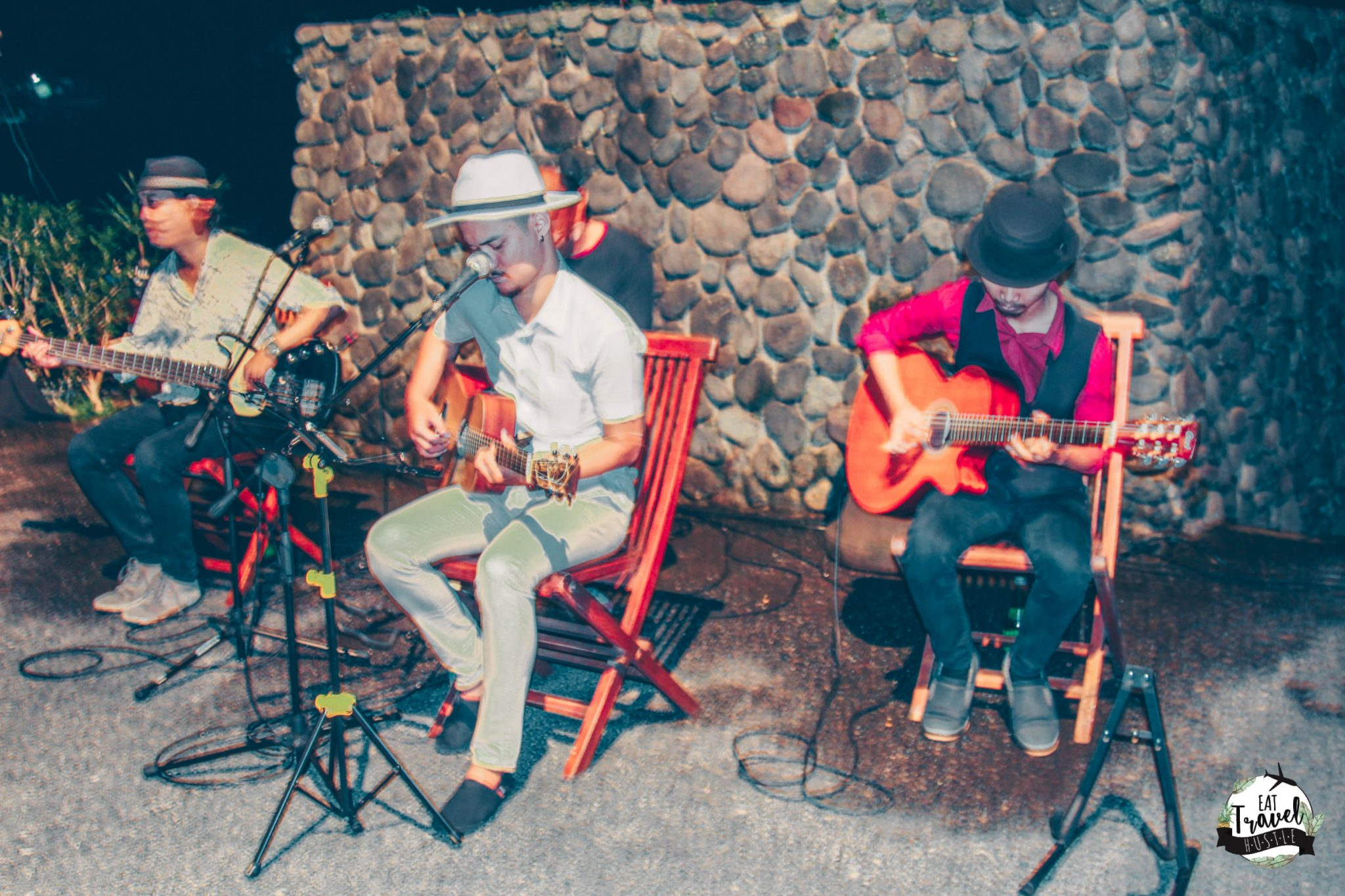 Wonderful local live band performance at Alila Ubud