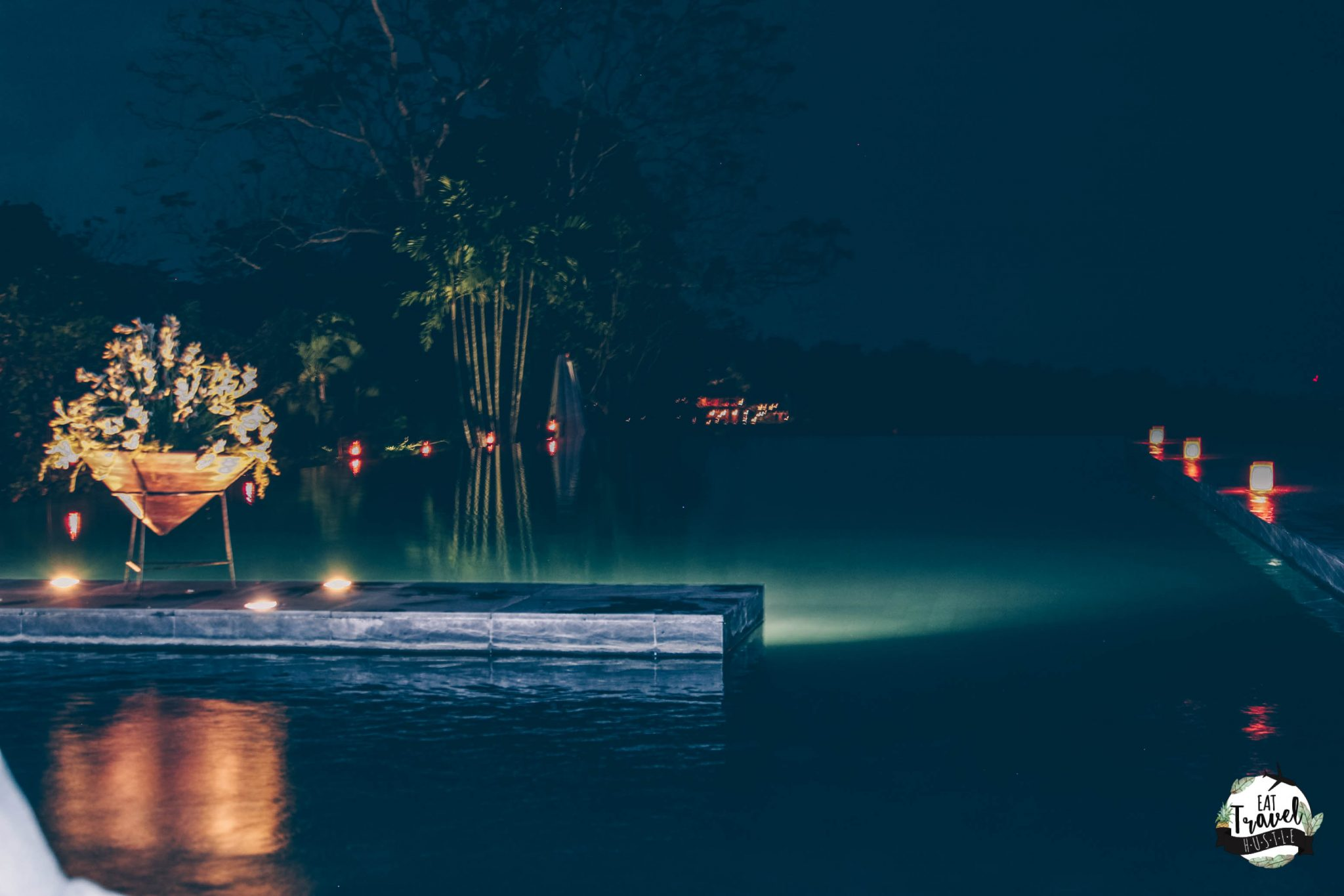 Alila Ubud Infinity Pool at Night