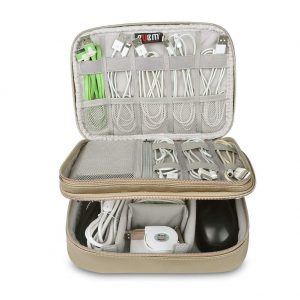 travel electronics gear organizer