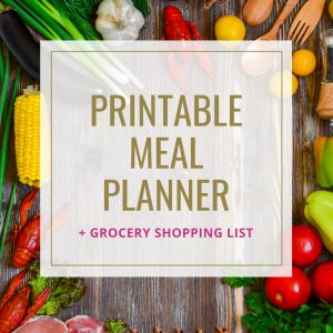 Printable Meal Planner + Grocery list
