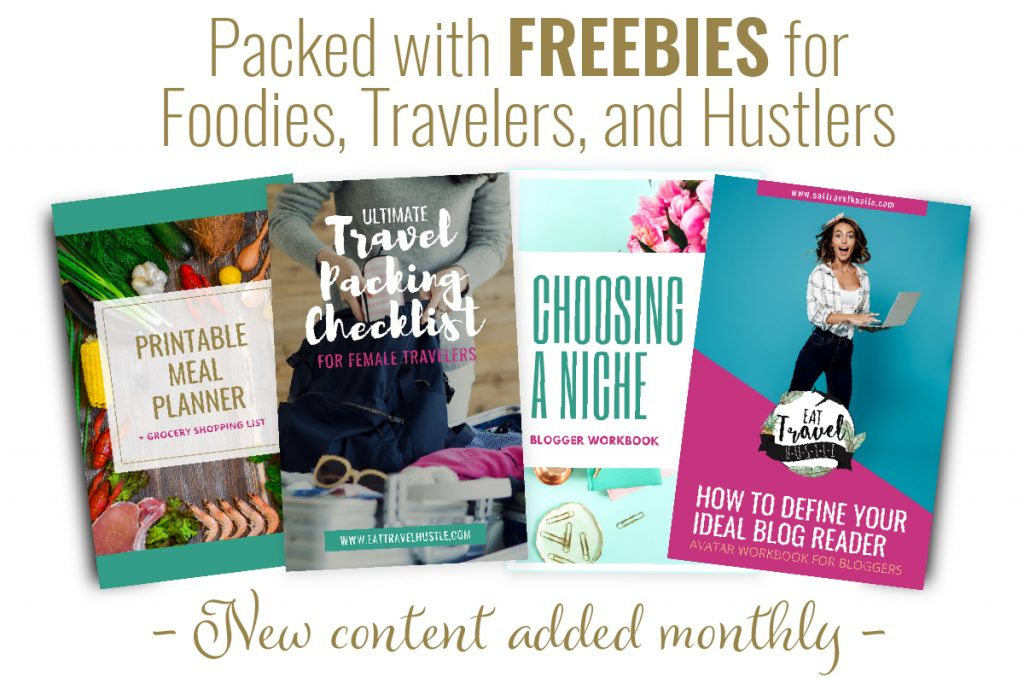 Subscribe to free food, travel and blogging resource library