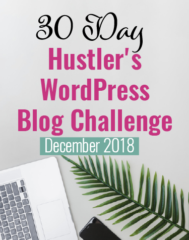 December 2018 wordpress start a blog challenge