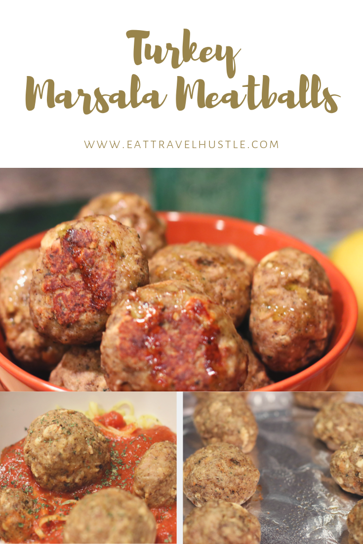 Turkey Marsala Meatballs recipe #eattravelhustle @eattravelhustle